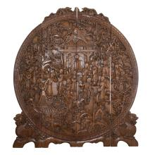 Chinese Hand Carved Wooden Screen