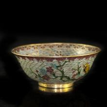 Chinese Reverse Cloisonne Glass Bowl