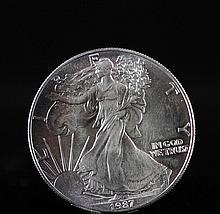 1987 Walking Liberty Silver Dollar Coin