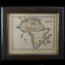 Antique Map of Africa by J.Olney (American 1798-1872)
