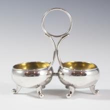 Christofle Silver Plated Salt & Pepper Cellar
