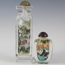 Interior Painted Glass Snuff Bottles