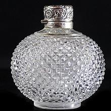 William Harrison Walter Sterling & Glass Perfume Bottle