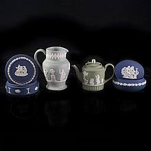 Lot of Wedgwood Royal Blue & Green Jasperware Collection
