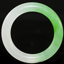 Two Tone Jade Bangle Bracelet