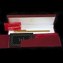Must de Cartier Gold Fountain Pen
