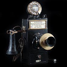 Vintage Gray Telephone Company Payphone