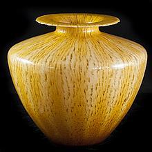 Murano Amber Glass Vase