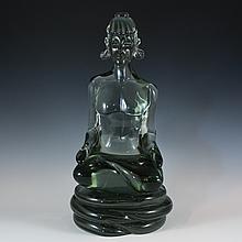 Italian Murano Glass Buddha