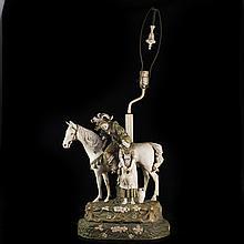 Ceramic Figural Lamp