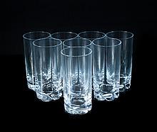 Set Of 8 Daum Crystal Cups