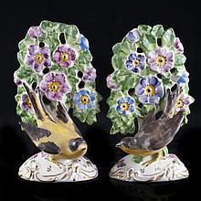 Pair of Porcelain Bird Figurines