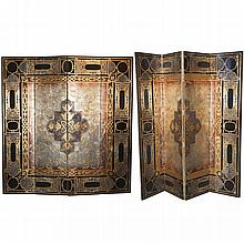 Pair of Wooden Art Deco Style Partitions