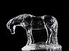 Waterford Crystal Feeding Horse Figurine