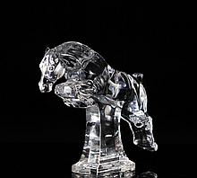 Baccarat Crystal Horse Figurine