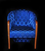 Versace Arm Chair Cobalt Blue