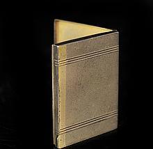 Art Deco 900 Silver Compact Case
