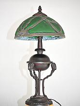 Stained Glass Decorative Figural Lamp