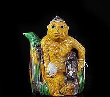 Rare Chinese Monkey Figurine Teapot