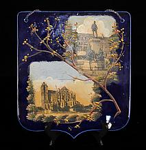 Cobalt Blue Raised Enamel French Plaque