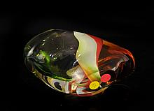 Hand Blown Murano Glass Art Bowl