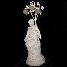 Figural Composite Statue Lamp