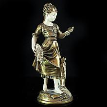 Spelter Sculpture by Emile Bruchon (French, 1806 - 1895)