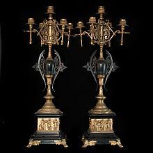 Deco Bronze Candelabras