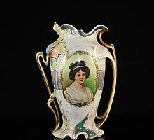 Antique Austrian Porcelain Vase