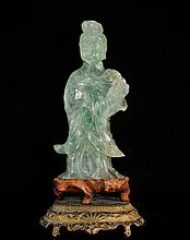 Antique Chinese Carved Quartz Guan Yin