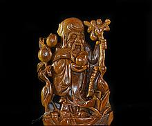 Early Chinese Hand Carved Tigers Eye Budha