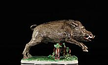 Rare Nymphenburg German Porcelain Hog Figurine