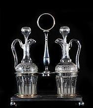 Art Nouveau Sterling Silver Oil & Vinegar Set