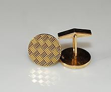 Pair Of 14k Gold Cufflinks. Signed