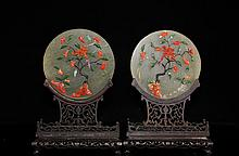 Pair Of Chinese Soapstone Plaques