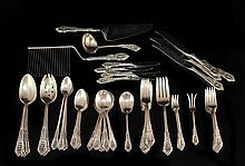 Sterling Silver Wallace 90 Piece Flatware Set