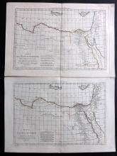 Bonne, Rigobert 1781 Pair of Maps of Egypt