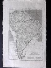 Bonne, Rigobert C1780 Map of South America
