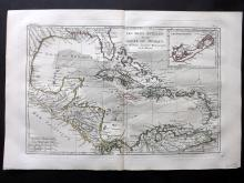 Bonne, Rigobert C1780 Map of the Gulf of Mexico, USA, West Indies