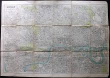 London 1914 Large Folding Map, Post Office Directory