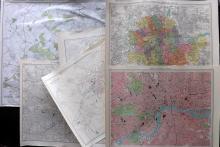 London C1905-35 Group of 4 Maps, plus 2 others. Bartholomew