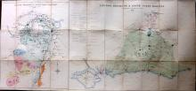 London, Railway, Wages - Morgan, C. L. 1900 Large Folding Map showing Permanent Way Rates on the London, Brighton & South Coast Railway