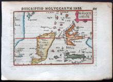 Bertius, Petrus C1600 Hand Coloured Map of Indonesia East Indies