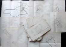 Dawson, Robert - Wales C1840 Lot of 38 County & Town Plans