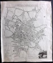 Kempson, John 1808 Rare Map Plan of Birmingham