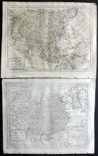 Topham, Samuel C1815 Pair of Rare Maps of China & Asia