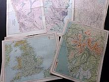 British County/Area Maps 1880's/90's Lot of 32 Lithograph Maps