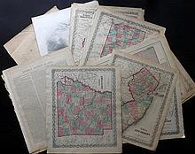 Colton, Joseph Hutchins & Johnson, Alvin Jewett C1856-C1875 Lot of 15 US State Maps