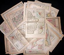 USA C1855-1915 Lot of 60 State & Area Maps by Colton, Johnson, Century Atlas, Rand & McNally