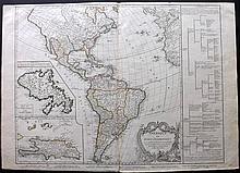 Vaugondy, Robert C1778 Large Map of North & South America